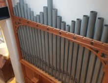 Restored church organ in Stroud