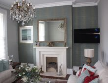 Feature wall paper hanging Cheltenham