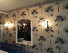 Wallpapering at The Falcon Hotel Painswick