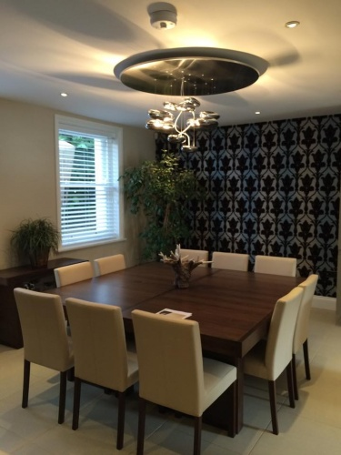 Flock Wallpaper feature wall in a Cheltenhm town house