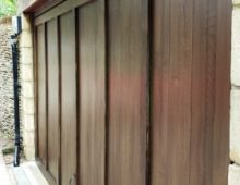 Garage door graining
